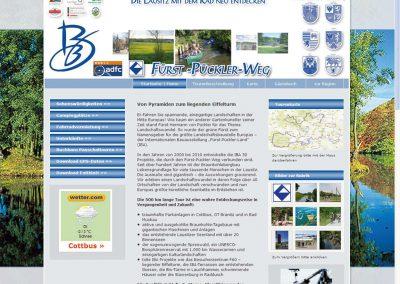 Website Fürst-Pückler-Radweg