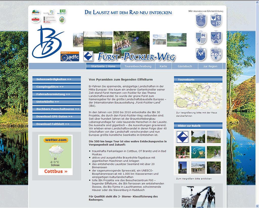 Daten-Website Landschaft